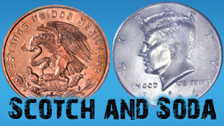 ALL NEW Scotch and Soda Coin Trick with Booklet