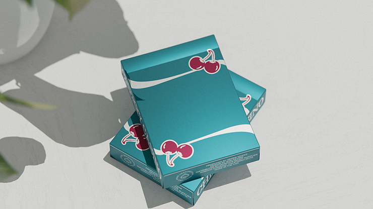 Cherry Casino (Tropicana Teal) Playing Cards
