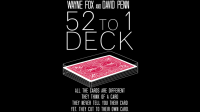 ALL NEW 52 TO 1 (Gimmicks and Online Instructions) by Wayne Fox