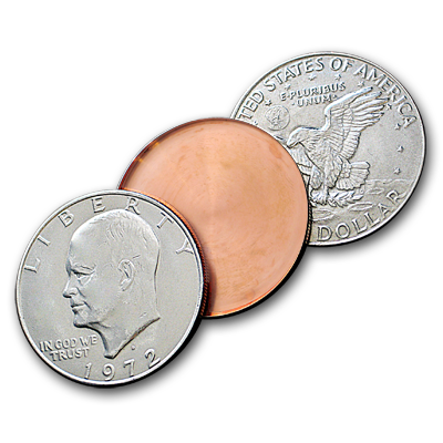 Expanded Eisenhower Dollar Shell Heads or Tails