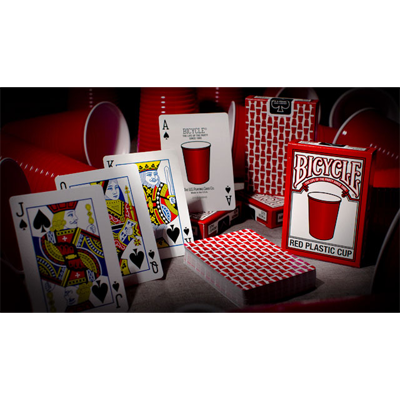 Bicycle Red Plastic Cup Deck by US Playing Card Co