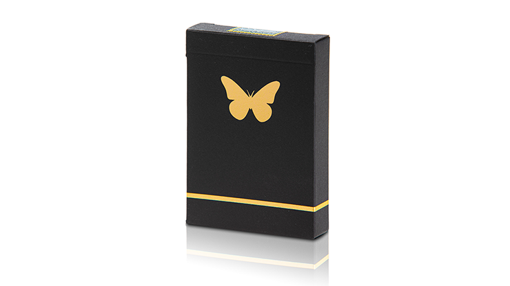 Butterfly Playing Limited Edition Butterfly Marked (Black and Gold) by Ondrej Psenicka