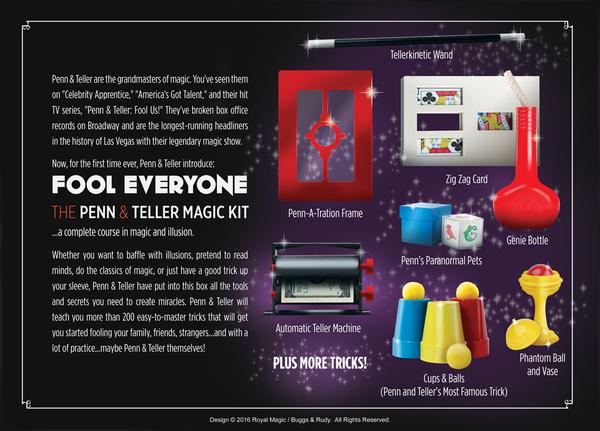 Penn & Teller Fool Everyone Magic Kit with DVD