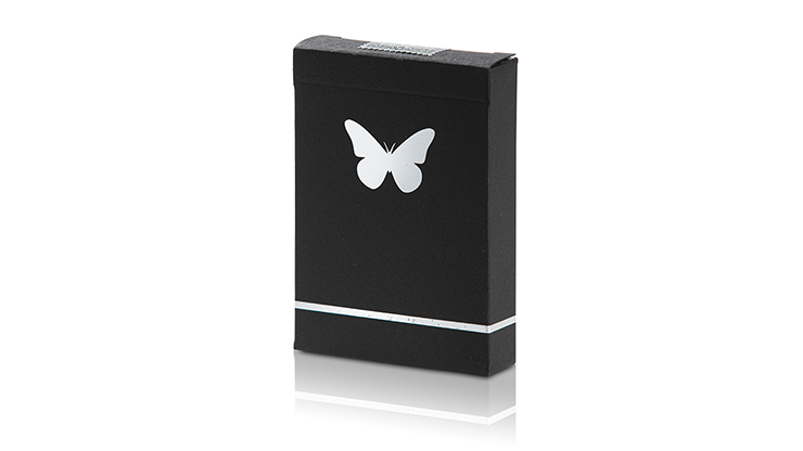 Butterfly Playing Limited Edition Butterfly Marked (Black and Silver) by Ondrej Psenicka