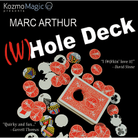 The (W)Hole Deck Blue (DVD and Gimmick) by Marc Arthur and Kozmomagic