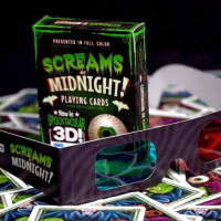 Screams at Midnight Playing Cards with 3D Glasses